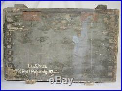 05e21 Ancienne Caisse Allemande Munitions Lance Fusée Datée 1940 Dunkerque Ww2