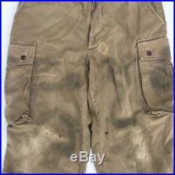 100% original tenue wwii américain m42 parachutiste saut veste et pantalon camo