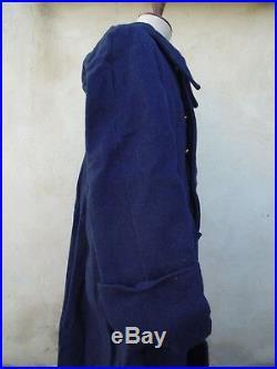 1940 Capote Manteau Aviation Troupe drap bleu Vendu en l'état