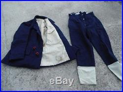 1940 Tenue Veste Aviation Troupe + Culotte régimentée drap bleu Vendu en l'état