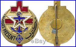 23° Compagnie Nord Africaine des F. F. L, métal doré émaillé, Le Caire