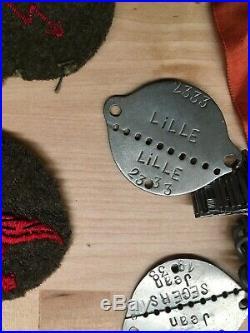404e anti aerienne plaque insigne col DCA TSF 1939 WW2 Lille Maginot Dunkerque