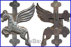(5) Commando du Laos, croix inversée, en argent, poinç. Local, 59 mm, (2289)