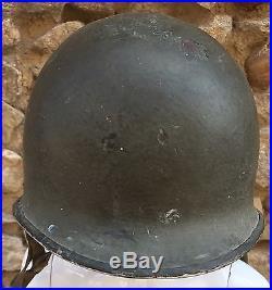 Authentique Ancien Casque Militaire M1 Americain Du 3eme Idus N°187 1943-1944