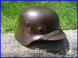A VOIR! Ancien casque allemand casque militaire militaria