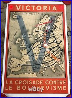 Affiche Propagande Lvf Croisade Contre Le Bolchevisme 1939-45 Collaboration Ww2
