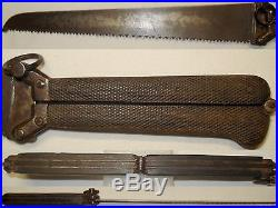 Ancien Couteau, knife, scie à système de l'armée allemande D. R. G. M ou anglais