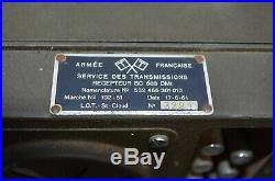 Ancien Récepteur De Char Armée Française Bc 603 Sur Secteur