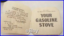Ancien Rechaud MILITAIRE US Coleman 1944 CM MFG CO US Superbe état boite