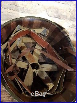 Ancien casque américain 1944 militaria normandie debarquement ww2