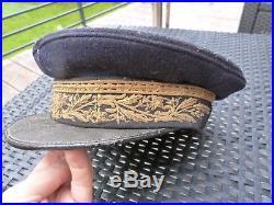 Ancienne casquette general diplomate ou controleur civil III république