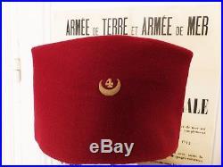 Armée D'afrique Rare Vareuse Us Et Chéchia Du 4° Regiment De Zouaves
