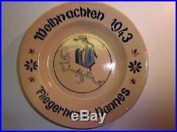 Assiette faience souvenir allemand Henriot