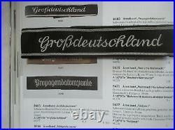 Authentique Bande De Bras Grossdeutschland 39-45 Tbe++ Allemagne