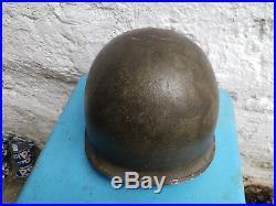 Authentique Casque Us M1 Ww2 Normandy Major Dday
