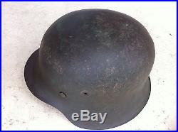 Authentique casque allemand WH modèle 42 libération Normadie all US GB