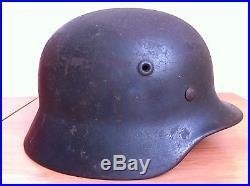 Authentique casque allemand WW2 Luftwaffe dans son jus, non démonté