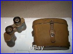 Authentique paire de jumelle et son étui ARMÉE ALLEMANDE WW II
