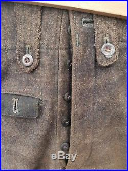 Authentique pantalon troupe modèle 43 allemand WW2