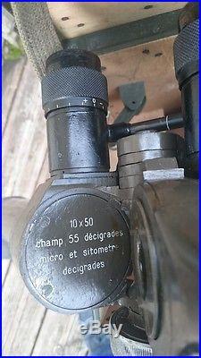 BINOCULAIRE JUMELLES DE TRANCHEE FRANCE 40 MG 1939 ORIGINAL OPTIQUE TOP