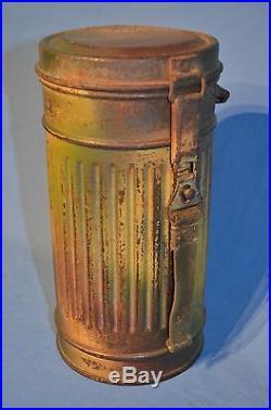 BOITE MASQUE A GAZ Cam Allemand WW2