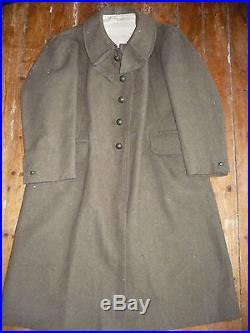 Belle capote troupe 38 datée 1940 infanterie 39 40 ww2 maginot RIF RIC légion