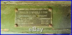 Belle remorque 1 tonne US 1942 caisse bois Ben-Hur Checker Gmc Dodge Jeep 1èreDB