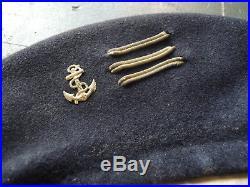 Beret Des Chars De Combat D'un Capitaine De La Coloniale 1940, Rcc Tdm