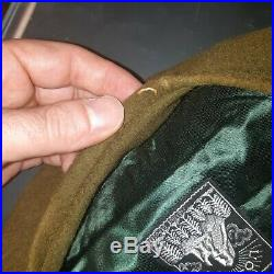 Beret officier Maginot garanti Epoque, 13e DBLE Narvik TOP RARE 1940 poilu fort