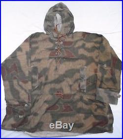 Blouse camouflée Allemande avec capuche WWII Tarnjäcke WW2 datée 1944 Gr. II