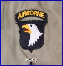 Blouson M41 sous-officier 101e Airborne US ARMY WW2 (matériel original)