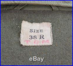 Blouson US M-41 avec ses deux étiquettes US ARMY WW2 (matériel original)