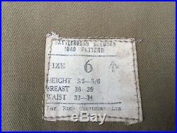 Blouson battledress GB 11ème DB monté dorigine 1942