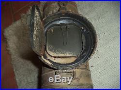 Boîte de masque a gaz Allemand camouflé W2 39-45 pur jus grenier
