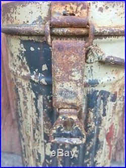 Boitier De Masque Camouflé Sable 3 Tons Allemand Militaria No Casque 1944