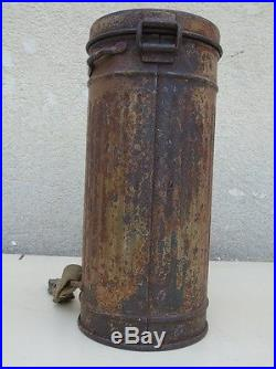 Boitier Masque à GAZ VIDE CAM 3 Tons allemand Normandie 39-45 ww2 100 % BON