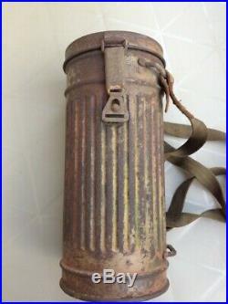 Boitier de masque allemand ww2 Normandie wehrmacht camouflé