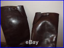 Bottes Officier 1940. Cuir fauve France 40 T 41,5 (28 cm) belle patine superbe