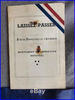 Brassard Résistance réseau Marco polo laisser passer MLN FFI Libération BCRA