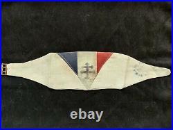 Brassart FFI WW2 Croix Ancée. Cachet des Forces Françaises de l'Interieur