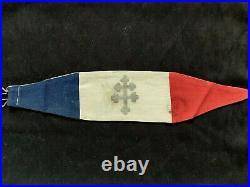 Brassart FFI WW2 Croix de Lorraine Ancée. Cachet Forces Françaises Intérieur