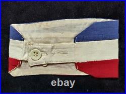 Brassart FFI ww2 avec cachet Subdivision de LAON Le Commandant. Original