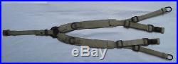 Brelage lourd Allemand toile WW2 Afrika Korps Canvas Combat Suspenders original