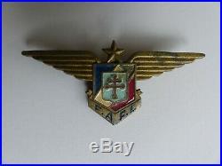 Brevet Pilote F. A. F. L Fabrication Très Rare de Damas WW2 FFI RAF USAAF