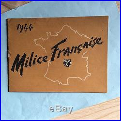 Brochure (originale) propagande Milice française 1944
