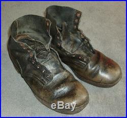 Brodequin allemand WH WW2 german boot -Paar Schuhe Schnürschuhe 2WK