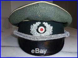CASQUETTE ALLEMANDE OFFICIER schirmmutze WW2