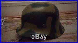 Casque Allemand Modele 42 German Helmet Pas Anglais Americain