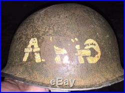 CASQUE AMERICAIN AAAO BON ETAT DE LA SECONDE GUERRE MONDIALE WW2