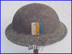 Casque Anglais Mk II Officier Rasc Nominatif Italie Monte Cassino